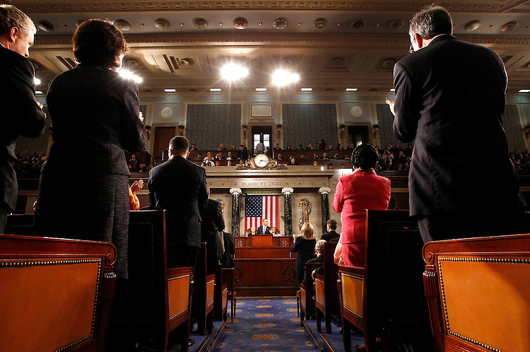President Barack Obama addresses a joint session of the United States Congress on the subject of job creation on Capitol Hill in Washington, September 8, 2011.   REUTERS/Kevin Lamarque  (UNITED STATES)