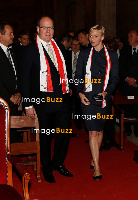 PRINCE ALBERT & PRINCESS CHARLENE IN CORSICA - May 20, 2013-Lucciana (Corsica, FR)-Prince Albert and Princess Charlene are in Corsica this Monday public holiday. The one-day trip is packed with events and places to visit, from masses and fairs to processions and parishes, in the company of many important local figures. .Welcomed by Alain Rousseau, prefect of the Haute-Corse region, and Joseph Galletti, the mayor of Lucciana, the princely couple passed the day at a variety of official functions. .To begin the morning, Prince Albert and his wife have plans to attend a mass given by His Excellency Olivier de Germay, Bishop of Corsica, in the Sanata Maria Assunta Cathedral. Several other important religious figures from Corsica will also take part, along with Mayor of Monaco Georges Marsan, an array of Corsican authorities and a group of 40 pilgrims from the Principality. .Next on the agenda is a procession around the Mariana cathedral and its treasured archaeological site. Yet another shot of culture will see the pair exploring the Canonica craft fair. Finally, in the afternoon Prince Albert and Princess CharlËne will visit the Saint Michael Parish dedicated to Sainte Devote. .The visit will strengthen already close ties between Monaco and Lucciana. Relations between the two cities have been friendly since the Monaco-Lucciana twinning in 2009. Lucciana has even called its museum centre ëPrince Rainier III de Monacoí, to honour its connections.