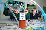 Welsh Water .Pupils from Llansawel Primary School visiting Cilfynydd Education Centre..L-R: Kion Francis & Jaime Lee Locke with teacher Mari.27.09.12.©Steve Pope
