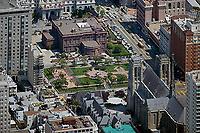 aerial photograph Nob Hill residential neighborhood San Francisco California