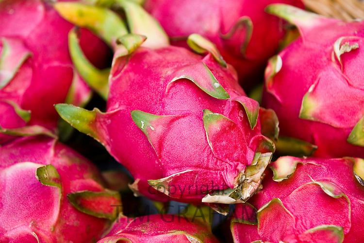 Pitaya fruits, Bangkok, Thailand