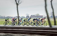 early breakaway group<br /> <br /> 79th Gent-Wevelgem 2017 (1.UWT)<br /> 1day race: Deinze &rsaquo; Wevelgem - BEL (249km)