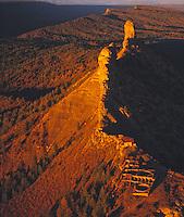 Chimney Rock ruins, Chimney Rock Archeological Site, Colorado  San Juan Mountains     Ancient Ancestral Puebloan ruins on rock pinnacle