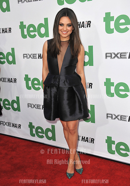 "Mila Kunis at the world premiere of her movie ""Ted"" at Grauman's Chinese Theatre, Hollywood..June 22, 2012  Los Angeles, CA.Picture: Paul Smith / Featureflash"