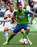 Seattle Sounders vs. LA Galaxy during an MLS match on July 9 2016 in Seattle, Washington. The Galaxy beat the Sounders 1-0. Jim Bryant Photo. ©2016. All Rights Reserved.