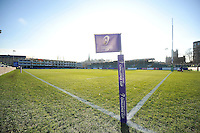 A general view of the Recreation Ground pitch prior to the match. European Rugby Challenge Cup match, between Bath Rugby and Pau (Section Paloise) on January 21, 2017 at the Recreation Ground in Bath, England. Photo by: Patrick Khachfe / Onside Images