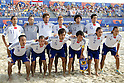 Japan team group line up (JPN), SEPTEMBER 02, 2011 - Beach Soccer : FIFA Beach Soccer World Cup Ravenna-Italy 2011 Group D match between Japan 2-3 Mexico at Stadio del Mare, Marina di Ravenna, Italy, (Photo by Enrico Calderoni/AFLO SPORT) [0391]