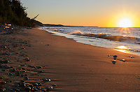 A Lake Superior sunset at the base of Grand Sable Dunes near Grand Marais, MI