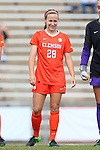25 October 2015: Clemson's Emily Byorth. The University of North Carolina Tar Heels hosted the Clemson University Tigers at Fetzer Field in Chapel Hill, NC in a 2015 NCAA Division I Women's Soccer game. UNC won the game 1-0.