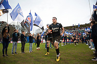 Henry Thomas of Bath Rugby runs out onto the field for the start of the second half. European Rugby Champions Cup match, between Bath Rugby and RC Toulon on January 23, 2016 at the Recreation Ground in Bath, England. Photo by: Patrick Khachfe / Onside Images