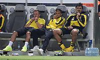FUSSBALL  DFB POKAL FINALE  SAISON 2015/2016 in Berlin FC Bayern Muenchen - Borussia Dortmund         21.05.2016 Mats Hummels (re, Borussia Dortmund) muss das Spielende von der Bank aus beobachten