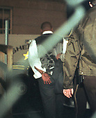 """Former Boxing World Heavyweight Champion Mike Tyson is taken to jail in Rockville, Maryland after sentencing resulting from his """"no contest"""" plea for a road rage incident on February 5, 1999..Credit: Ron Sachs / CNP"""