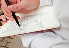 Sept. 4, 2011; A School of Architecture student sketches while on a research trip to Havana, Cuba...Photo by Matt Cashore/University of Notre Dame