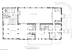 Pittsburgh PA:  An Ingham, Boyd and Pratt drawing of the renovated first floor of Woodland Hall at the Pennsylvania College for Women's campus.  Ingham, Boyd and Pratt Architect's various designs were submitted from 1948 through 1952 with construction starting in 1953. Pennsylvania College for Women was renamed Chatham College in 1955.