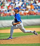 15 March 2008: Los Angeles Dodgers' pitcher Takashi Saito on the mound during a Spring Training game against the Washington Nationals at Space Coast Stadium, in Viera, Florida...Mandatory Photo Credit: Ed Wolfstein Photo