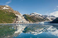 Cascade and Barry Glacier, Chugach mountains, Chugach National forest, Prince William Sound, southcentral, Alaska.