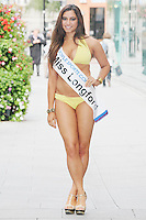 17/9/2010. Miss Ireland contestants. Miss Longford Zarah Sahah is pictured at St Stephens Green. the 35 Miss Ireland contestants officially unveiled in their swimwear and sashes for the 1st time at Stephen's Green Shopping Centre,  Dublin. Picture James Horan/Collins Photos