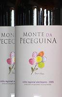 Bottles of Monte de Peceguina 2006. Drawing by Francesca. Herdade da Malhadinha Nova, Alentejo, Portugal