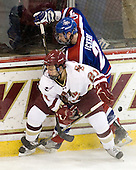 Steven Whitney (BC - 21), Chris Ickert (Lowell - 2) - The Boston College Eagles defeated the visiting University of Massachusetts-Lowell River Hawks 5-3 (EN) on Saturday, January 22, 2011, at Conte Forum in Chestnut Hill, Massachusetts.