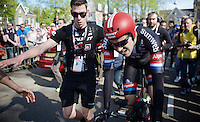Tom Dumoulin (NLD/Giant-Alpecin) after winning the prologue<br /> <br /> stage 1: Apeldoorn prologue 9.8km<br /> 99th Giro d'Italia 2016