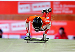 17 December 2010: Amy Gough slides for Canada, finishing 12th for the day at the Viessmann FIBT Skeleton World Cup Championships in Lake Placid, New York, USA. Mandatory Credit: Ed Wolfstein Photo