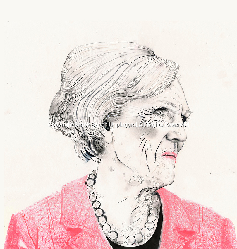 Drawing of Mary Berry