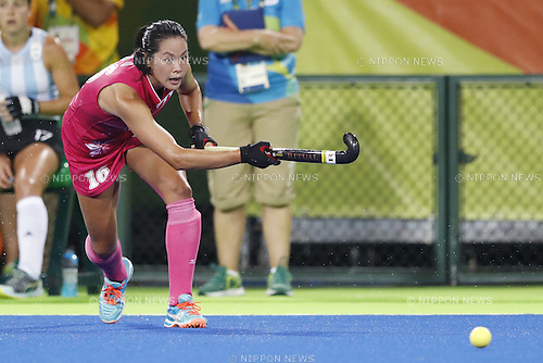 Mayumi Ono (JPN),<br /> AUGUST 8, 2016 - Hockey : <br /> Women's Pool Match <br /> between Japan Women's 0-4 Argentina Women's <br /> at Olympic Hockey Centre <br /> during the Rio 2016 Olympic Games in Rio de Janeiro, Brazil. <br /> (Photo by Yusuke Nakanishi/AFLO SPORT)