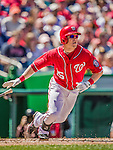 27 April 2014: Washington Nationals outfielder Nate McLouth in action against the San Diego Padres at Nationals Park in Washington, DC. The Padres defeated the Nationals 4-2 to to split their 4-game series. Mandatory Credit: Ed Wolfstein Photo *** RAW (NEF) Image File Available ***