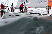 Peter Gilmour during day 2 of Match Race Germany. World Match Racing Tour. Langenargen, Germany. 21 May 2010.