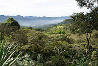 Forested mountainsides and valley near Matagalpa, Nicaragua