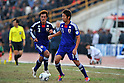 (R-L) Hiroshi Kiyotake, Yuichi Komano (JPN), NOVEMBER 11, 2011 - Football / Soccer : 2014 FIFA World Cup Asian Qualifiers Third round Group C match between Tajikistan 0-4 Japan at Central Stadium in Dushanbe, Tajikistan. (Photo by Jinten Sawada/AFLO)