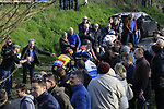 Oliver Naesen (BEL) AG2R leads Greg Van Avermaet (BEL) BMC and Philippe Gilbert (BEL) Quick-Step Floors up Oude Kwaremont during the 60th edition of the Record Bank E3 Harelbeke 2017, Flanders, Belgium. 24th March 2017.<br /> Picture: Eoin Clarke   Cyclefile<br /> <br /> <br /> All photos usage must carry mandatory copyright credit (&copy; Cyclefile   Eoin Clarke)