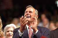 NEW YORK, NY - August 30, 2004: Former President George H. Bush at the 2004 Republican National Convention at Madison Square Garden in New York City, New York.