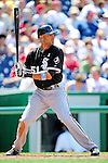 20 June 2010: Chicago White Sox center fielder Alex Rios in action against the Washington Nationals at Nationals Park in Washington, DC. The White Sox swept the Nationals winning 6-3 in the last game of their 3-game interleague series. Mandatory Credit: Ed Wolfstein Photo