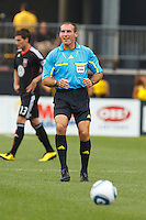 26 JUNE 2010:  Referee Terry Vaughn during MLS soccer game between DC United vs Columbus Crew at Crew Stadium in Columbus, Ohio on May 29, 2010. The Crew defeated DC United 2-0.