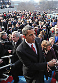 Washington, DC - January 20, 2009 -- Barack Obama greets guests after being sworn-in as the 44th president of the United States and the first African-American to lead the nation, at the Capitol in Washington, Tuesday, January 20, 2009.     .Credit: J. Scott Applewhite - Pool via CNP