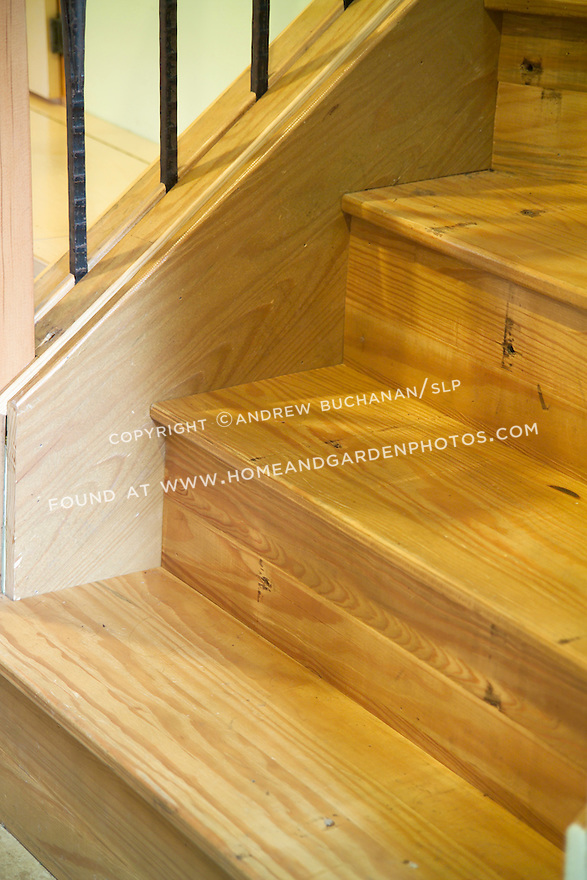 Many salvaged pieces can make interesting architectural elements.  Here, gym bleachers from the deconstruction of a local high school were re-surfaced and re-used as stair treads in this environmentally responsible residential project.