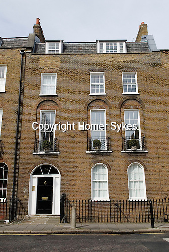 Cannonbury Square London N1. Typical Georgian terrace houses. UK 2008.