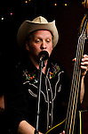Johnny Lingo on bass during the performance of Big Cat Chris & The Rhythm Ropers at The Bus Stop Music Cafe in Pitman, NJ.