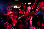 Don Trip and his fans and crew at his performance at the After 5 Sports Bar and Grill in Tunica, Mississippi in the early hours of October 15, 2011. ..[note: Tripp in blue polo and grey tank top]