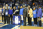 UK senior guard A'dia Mathies and her family being honored during the first half of the women's basketball game vs. Tennessee at Memorial Coliseum on Sunday, March 3, 2013, in Lexington, Ky. Photo by Kalyn Bradford | Staff