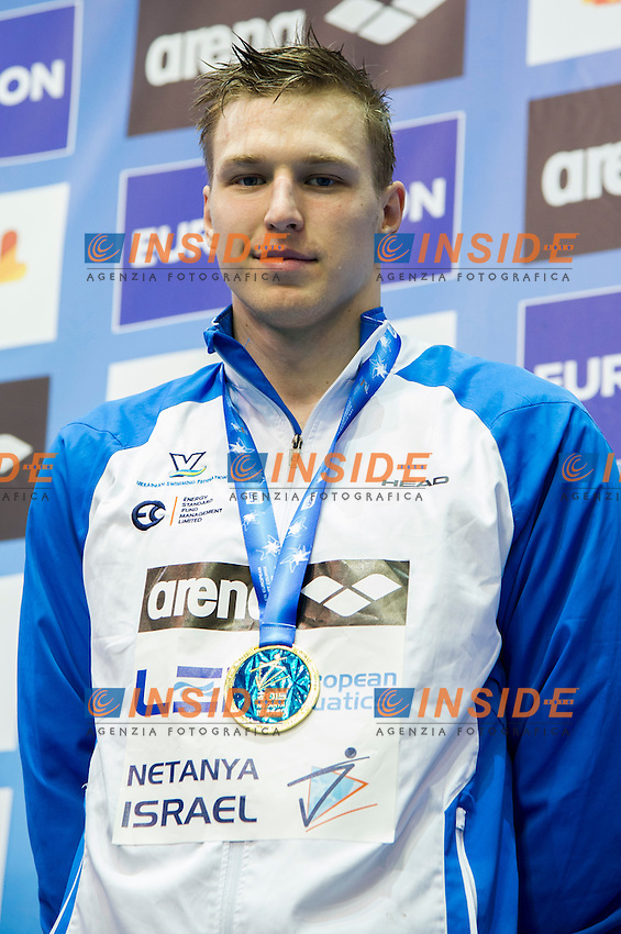 GOVOROV Andriy UKR Gold Medal<br /> 50m Butterfly Men Final<br /> Netanya, Israel, Wingate Institute<br /> LEN European Short Course Swimming Championships Dec. 2 - 6, 2015 <br /> Netanya 05-12-2015<br /> Nuoto Campionati Europei di nuoto in vasca corta<br /> Photo Giorgio Scala/Deepbluemedia/Insidefoto