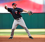4 September 2009: Minnesota Twins' catcher Mike Redmond takes infield drills prior to a game against the Cleveland Indians at Progressive Field in Cleveland, Ohio. The Indians defeated the Twins 5-2 to take the first game of their three-game weekend series. Mandatory Credit: Ed Wolfstein Photo