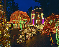 USA, Oregon, Christmas light display at The Grotto Sanctuary in Portland