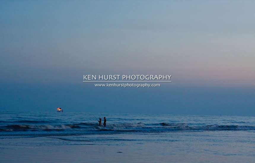 Men fishing at sea rim park ken hurst photography for Surf fishing gulf shores