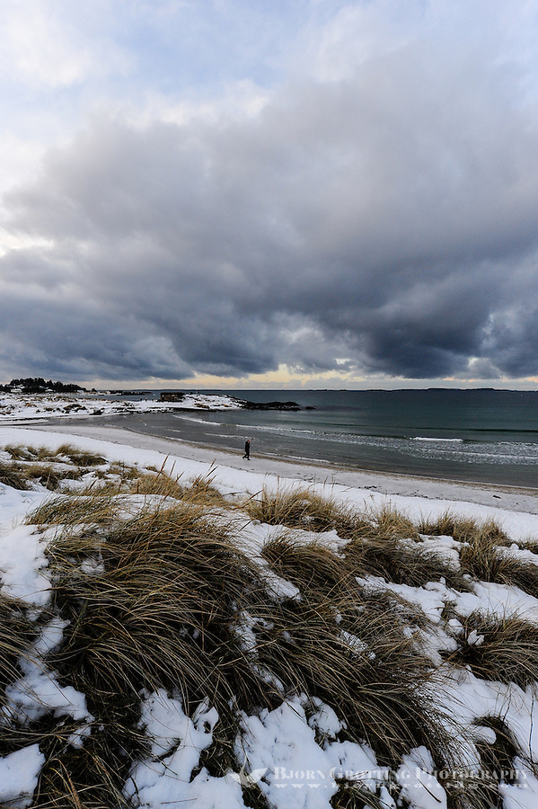 Norway, Sola. Winter at Solastranden beach.