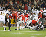 Ole Miss running back Jeff Scott (3) vs. Mississippi State at Vaught-Hemingway Stadium in Oxford, Miss. on Saturday, November 24, 2012. Ole Miss won 41-24.