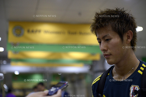 Yoichiro Kakitani (JPN), JULY 21, 2013 - Football / Soccer : Yoichiro Kakitani of Japan is interviewed after the EAFF East Asian Cup 2013 match between Japan 3-3 China at Seoul World Cup Stadium in Seoul, South Korea. (Photo by FAR EAST PRESS/AFLO)