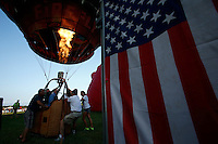 New York, USA. 25 July 2014.  People get ready their balloon during the 32th annual Balloon festival in Readington, New Jersey. Photo by VIEWpress