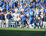 Kentucky's Danny Trevathan (22) intercepts a pass at Commonwealth Stadium in Lexington, Ky. on Saturday, November 5, 2011. ..
